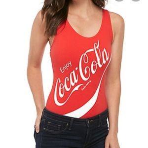 New! Coca Cola body suit sz M red logo snap bottom